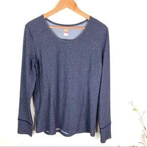 Lucy Heather Blue Long Sleeve Ribbon Detail Shirt